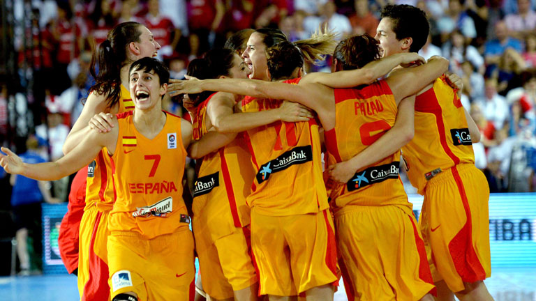 Las chicas de baloncesto, campeonas de Europa