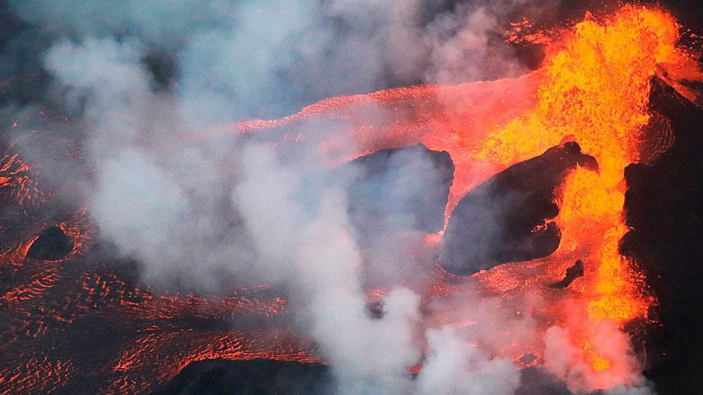 El volcán Kilauea ruge