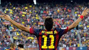 Neymar llena el vacío de Messi