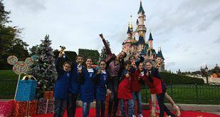 Blanca Navidad en Disneyland París