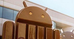 El logo de Android.