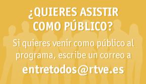 ¿Quieres asistir como público?