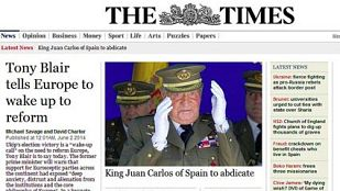 La abdicación del rey Juan Carlos I en la prensa internacional