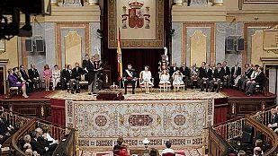 El presidente del Congreso, Jesús Posada, en su discurso ante las Cortes en el acto solemne de juramento y proclamación del Rey Felipe VI