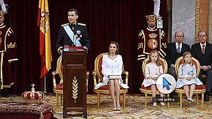 Repasa el discurso de proclamación del rey Felipe VI en nuestro gráfico interactivo