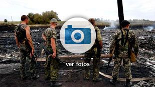 Las imágenes de la tragedia aérea de Donetsk