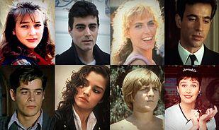 Jóvenes actores de la década ochentera