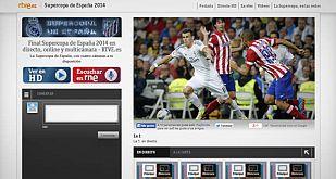 Así es el multiseñal que puedes disfrutar en http://www.rtve.es/supercopa/directo.