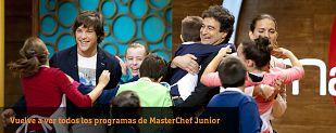 Vuelve a ver todos los programas de MasterChef Junior