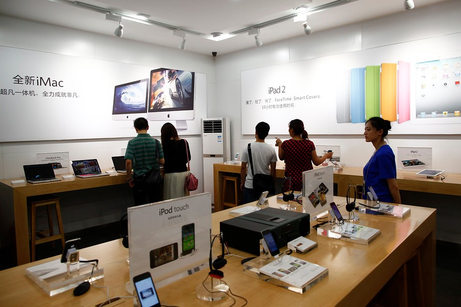 ... una Apple Store china completamente falsificada