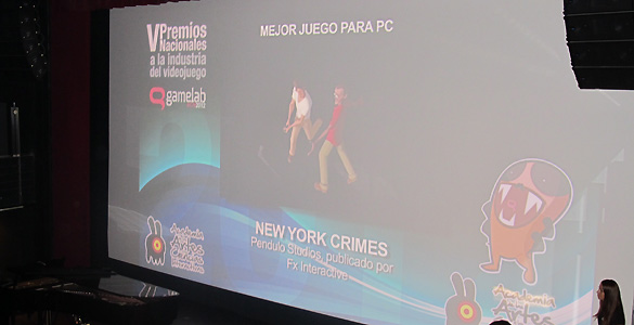 'New York Crimes', el gran triunfador de la noche de los videojuegos espa&ntilde;oles