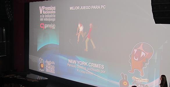 'New York Crimes', el gran triunfador de la noche de los videojuegos españoles