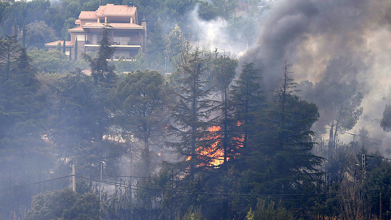 El 112 cree que el incendio de Robledo de Chavela, en Madrid, ha sido provocado por un pirómano