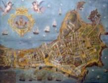 Maqueta de la ciudad de Cádiz en 1812.