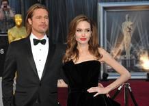 Brad Pitt y Angelie Jolie, en los Oscar 2012