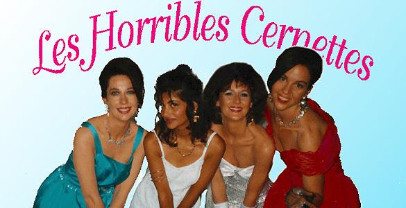 La primera foto subida a Internet con las integrantes del grupo 'Les Horrible Cernettes'