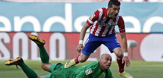 Villa lamenta una ocasión perdida ante Willy Caballero.