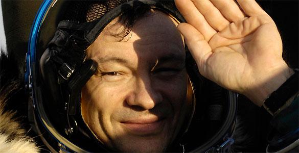 López Alegría tras volver de la expedición 14. El astronauta español viajó hasta la ISS en una Soyuz en septiembre de 2006. Esta fue su última misión espacial y en la que estableció un récord de permanencia en el espacio.