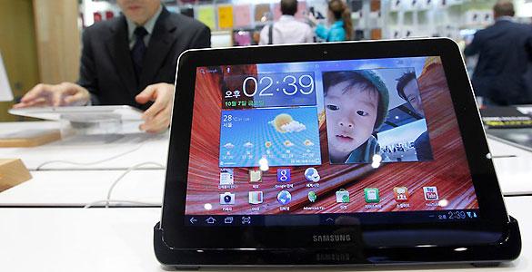 Android recorta distancias con Apple en la venta de 'tablets' gracias a dispositivos como el Galaxy Tab, de Samsung, que ha supuesto el 9% del total de ventas en este trimestre
