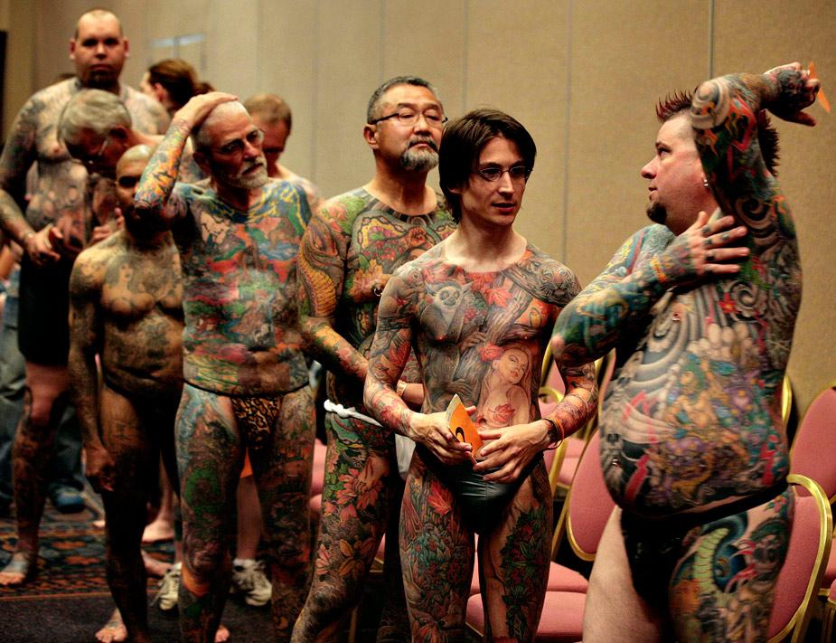 En 2012 se han celebrado concursos de todo tipo, como este de cuerpos tatuados que acogió el estado de Florida en el mes de abril. REUTERS/Larry Downing