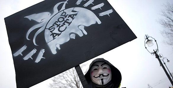 Casi todas las manifestaciones han estado secundadas bajo el lema 'Stop ACTA'