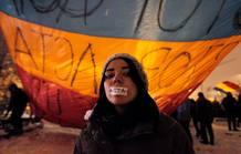 Las escenas contra la ley ACTA se han repetido en casi toda Europa (Rumanía)