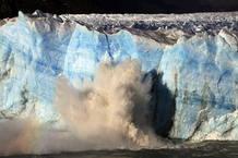 Vista del glaciar Perito Moreno, en el Parque Naci