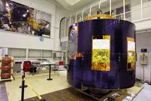 Fotografía facilitiada por Thales Alenia Space del tercer satélite Meteosat de Segunda Generación (MSG-3)