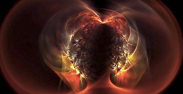 Recreación artística de un magnetar anómalo, una estrella de neutrones con una mayas mayor que la del Sol