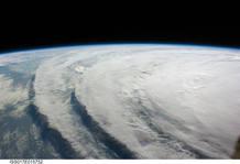 Vista desde el espacio del huracán Ike (2008)