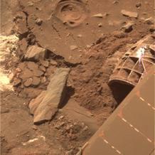 La última imagen de Marte que envió Spirit antes de perderse las comunicaciones