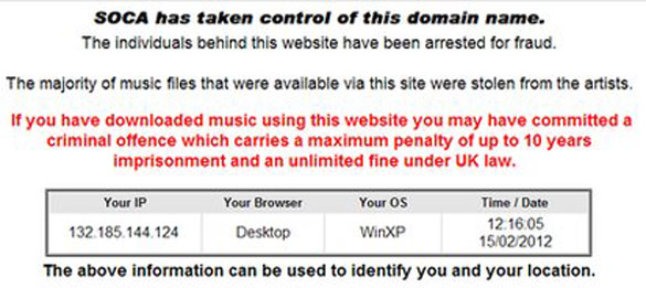 SOCA advierte a los usuarios sobre las consecuencias de descargarse música ilegal