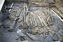 Nasas de varillas de pino (recipientes que se utilizan para pescar crustáceos y otros peces).