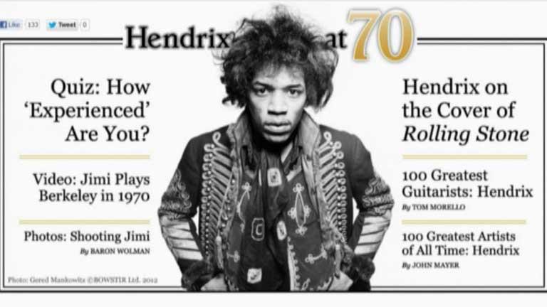 70 aniversario del nacimiento de Jimi Hendrix