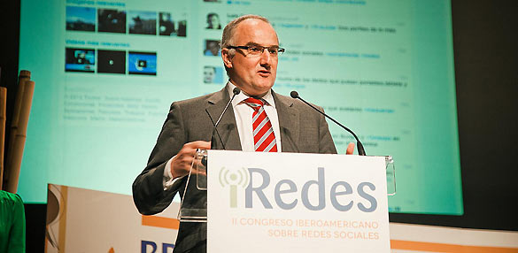 Borja Adsuara, director general de Red.es, durante la inauguración del Congreso iRedes