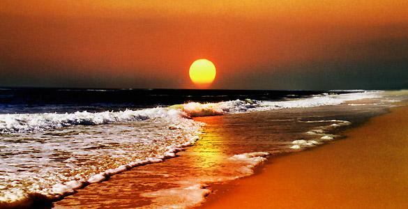 Un atardecer en la playa