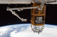 Los contenidos del módulo no presurizado a la vista desde el exterior de la nave