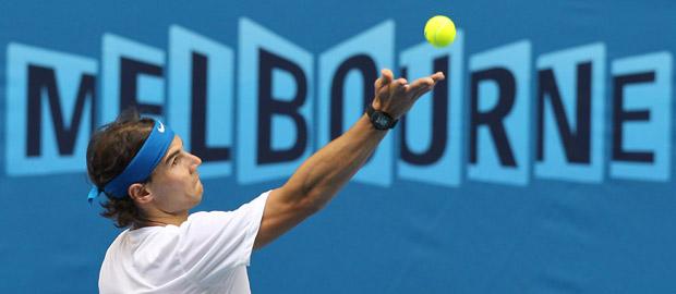 El tenista español Rafael Nadal, en el Abierto de Australia.