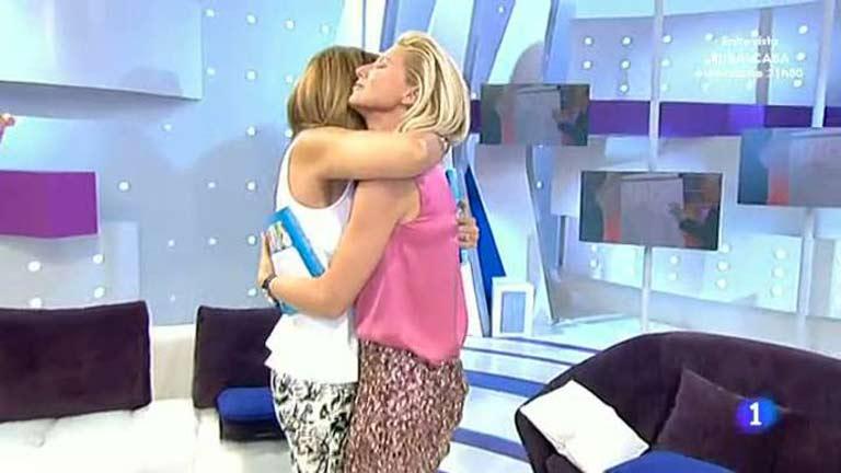 El abrazo del reencuentro entre Anne y Maril�