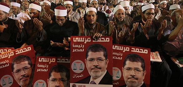 Acto de campaña del candidato de los Hermanos Musulmanes para las presidenciales de Egipto