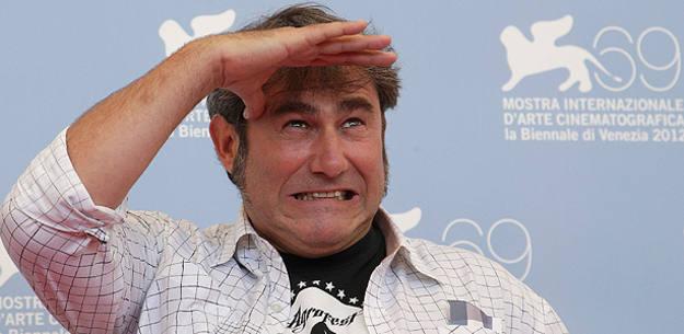 El actor español Sergi López durante la presentación, en Venecia, de la película 'Tango libre'