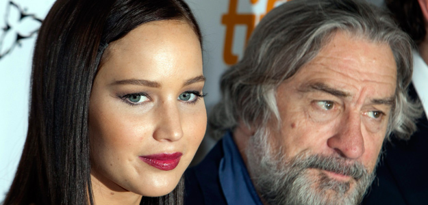 Actors Robert De Niro and Jennifer Lawrence arrives at the gala presentation for the film ' Silver Linings Playbook' during the 37th Toronto International Film Festival.