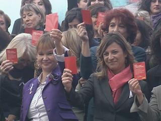 Ver v?deo  'Actos convocados en toda España en el Día Internacional contra la violencia de género'