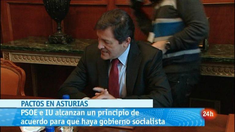 Parlamento - Parlamentos autonómicos - Acuerdo en Asturias PSOE-IU 14/04/2012