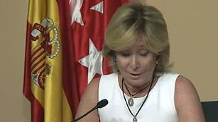 Ver vídeo  'Aguirre dimite como presidenta de la Comunidad de Madrid y diputada regional'