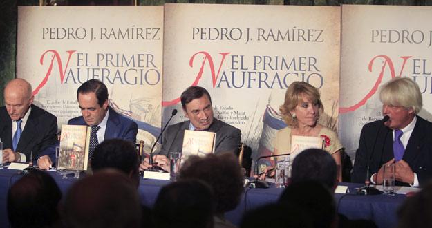 Aguirre en la presentación del libro sobre la Revolución francesa de Pedro J. Ramírez