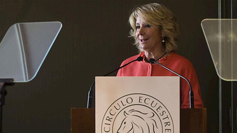 """Aguirre dice que hay que """"catalanizar"""" España y propone revisar el Estado de las autonomías"""