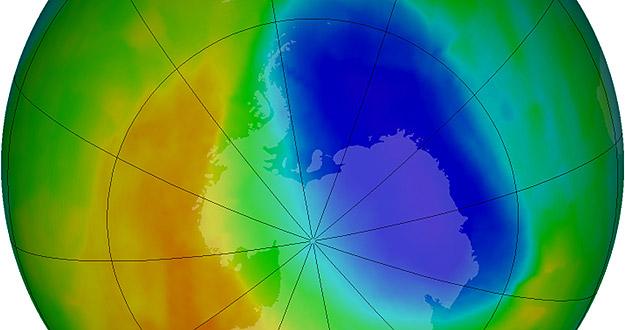 Agujero de la capa de ozono en la Antártida