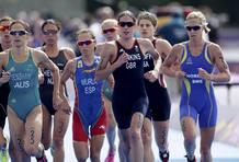 Ainhoa Murua ha estado siempre en cabeza en el triatlón femenino de Londres 2012 donde ha terminado séptima.