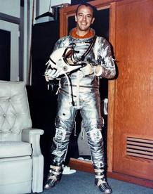 Alan Shepard, el primer nortemaricano en viajar al espacio y el quinto hombre en pisar la luna